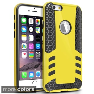 INSTEN Dual Color Silicone Hybrid Hard Plastic Phone Case Cover For iPhone 6