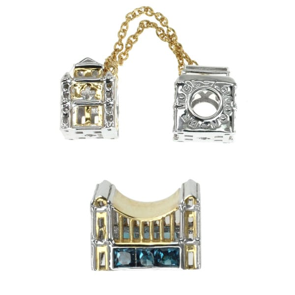 Michael Valitutti Palladium Silver 'London Bridge' Charm Set
