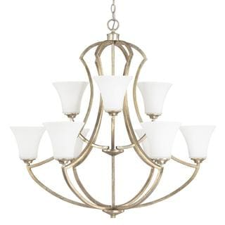 Capital Lighting Sidney Collection 9-light Painted Winter Gold Chandelier Light