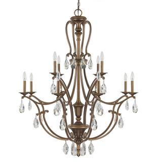 Capital Lighting Claybourne Collection 12-light Suede Finish Chandelier Light