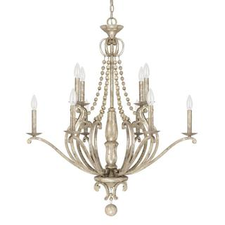 Capital Lighting Adele Collection 10-light Painted Silver Quartz Chandelier Light