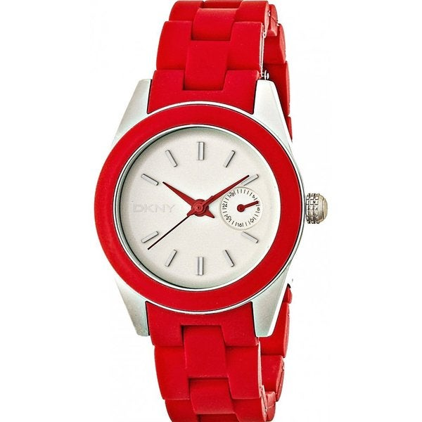 DKNY Women's NY2145 Classic Red Silicone Watch