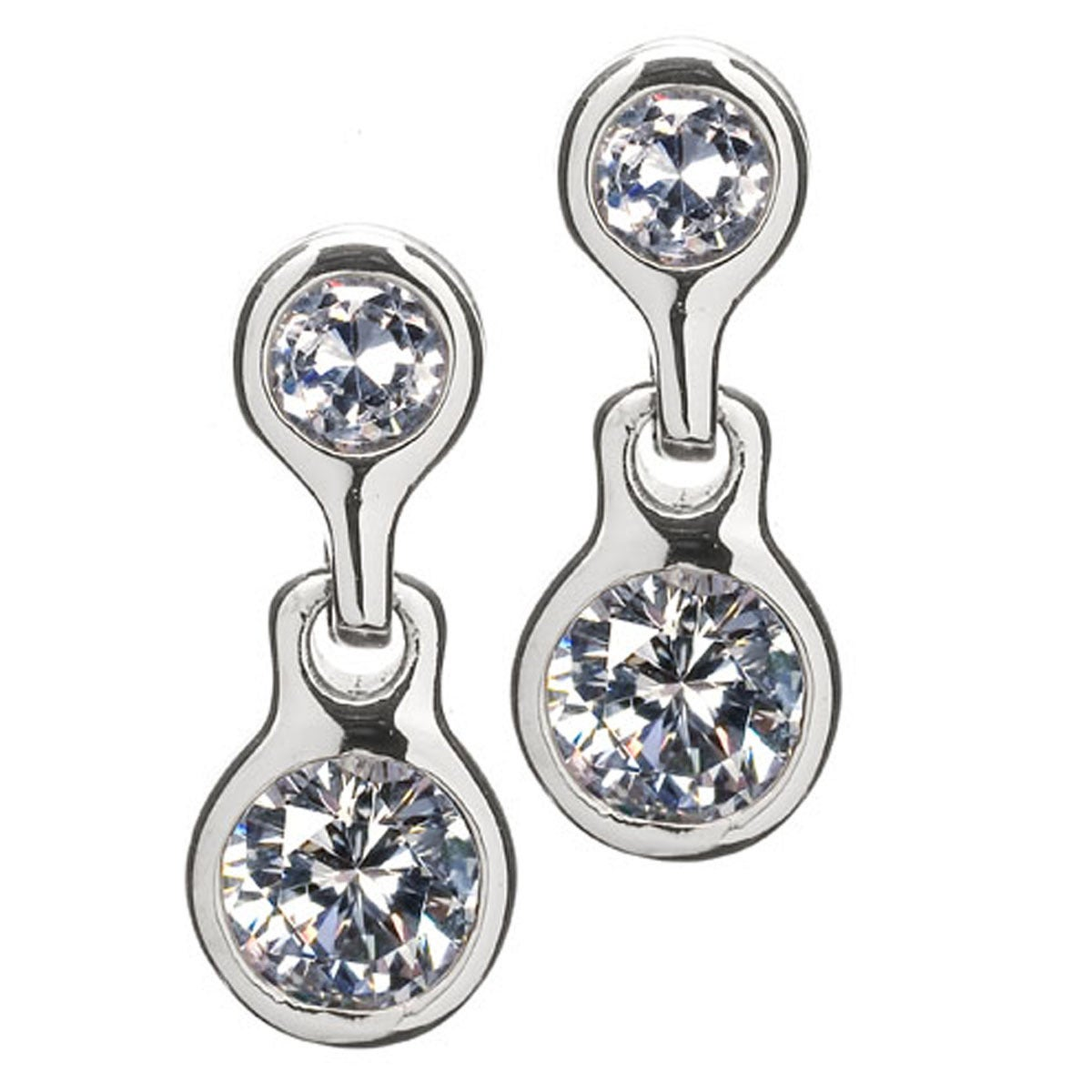 Overstock.com Non Pierced Magnetic Cubic Zirconia Stud Earrings at Sears.com