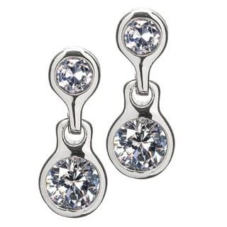 Non Pierced Magnetic Cubic Zirconia Stud Earrings
