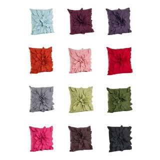 Flower Decorative 17-inch Felt Throw Pillow