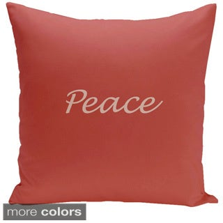 Square 26-inch Holiday Brights Collection Peace Pillow