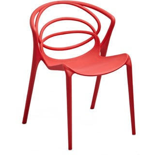 Orion Red Stacking Accent Chair (Set of 2)