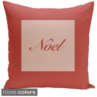 Square 20-inch Holiday Brights Collection Noel Pillow