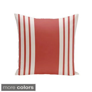Square 26-inch Holiday Brights Collection Striped Decorative Accent Pillow