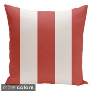 Square 16-inch Holiday Brights Collection Striped Decorative Pillow