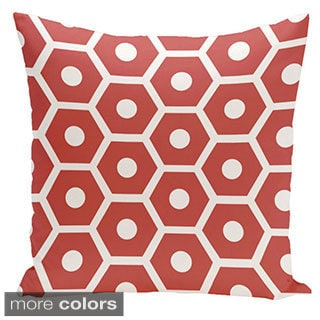Square 16-inch Holiday Brights Collection Hexagonal Geometric Pillow