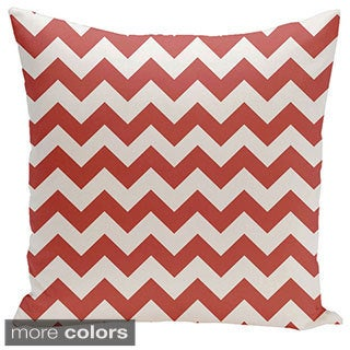 Square 16-inch Holiday Brights Collection Chevron Geometric Pillow