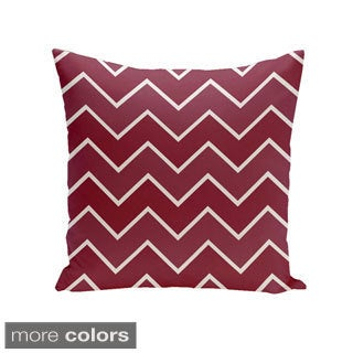 Square 16-inch Holiday Brights Collection Multi Zig-zag Geometric Pillow
