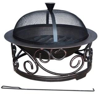 Deeco Sierra Swirl Cast Iron Fire Pit
