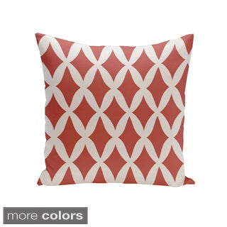 Square 18-inch Holiday Brights Collection Diamond Lattice Geometric Pillow
