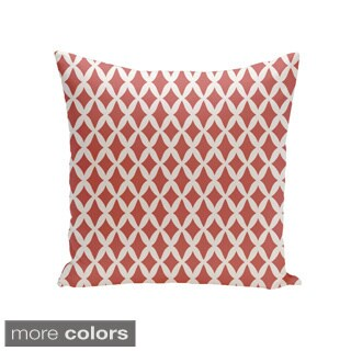 Square 18-inch Holiday Brights Collection Small Diamond Geometric Throw Pillow