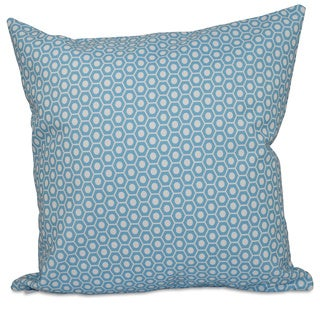 Square 26-inch Small Hexagon Geometric Decorative Throw Pillow