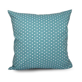 Square 20-inch Hexagonal Geometric Decorative Throw Pillow