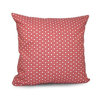 Square 16-inch Hexagonal Geometric Decorative Throw Pillow