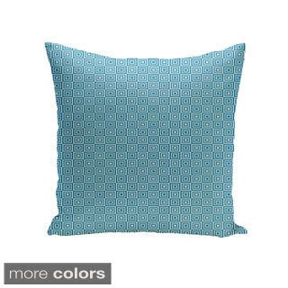 Square 18-inch Square Pattern Geometric Decorative Throw Pillow
