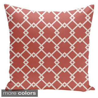 Square 16-inch Holiday Brights Collection Contemporary Diamond Geometric Throw Pillow