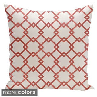 Square 18-inch Holiday Brights Collection Diamond Pattern Geometric Pillow