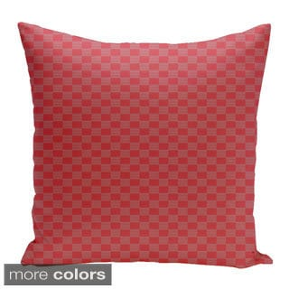 Square 20-inch Geometric Decorative Throw Pillow