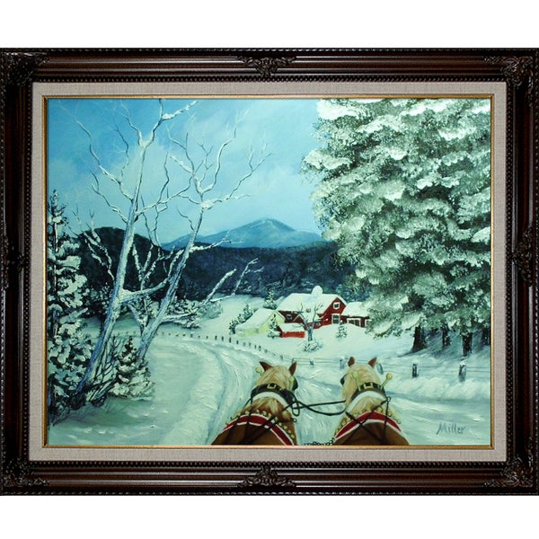Peggy Miller Sleigh Ride Framed Fine Art Print