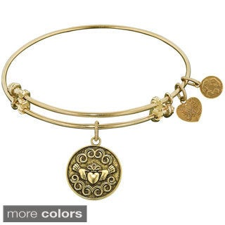 Angelica Claddagh Charm Bangle Bracelet