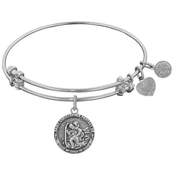 Angelica Saint Christopher Charm Bangle Bracelet