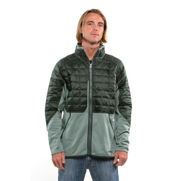 Patagonia Men's Verdigris Smoked Green Hybrid Down Jacket