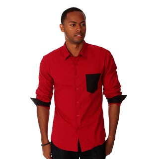Oxymoron Clothing, Men's, Cotton, Solid Shirt with Contrast Pocket