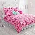 Wake Up Frankie Pink Damask Comforter Set