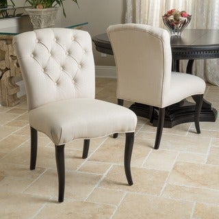 Christopher Knight Home Hallie Fabric Dining Chair with Pattern (Set of 2)