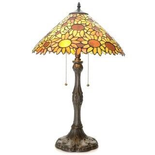 Tiffany-style Kinna Sunflower Table Lamp