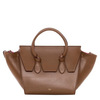 Celine Mini Camel Leather Tie Bag