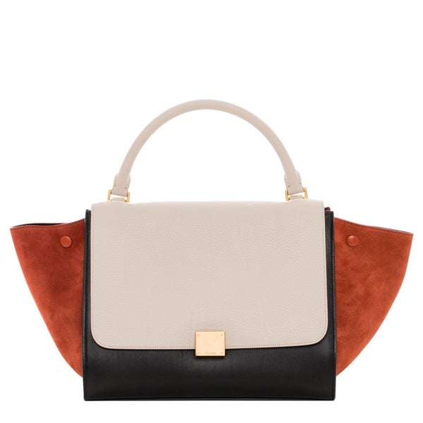 celine mini bag - Celine Medium Trapeze Leather and Suede Satchel - 16736308 ...