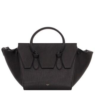 Celine Mini Black Grainy Leather Tie Bag