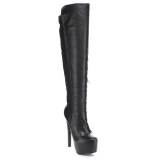 Puzzle Women's 'Salome-58' Black 50/50 Over-the-Knee Boots