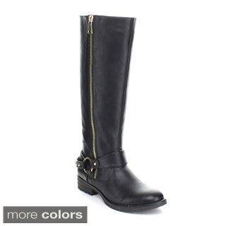 Puzzle Women's 'Olympus' Knee-high Outside Zipper Boots