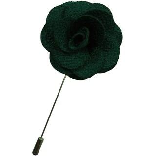 Dmitry Men's Emerald Green Flower Lapel Pin