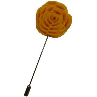 Dmitry Men's Yellow Flower Lapel Pin