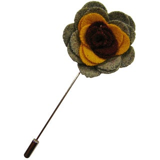 Dmitry Men's Grey Flower Lapel Pin