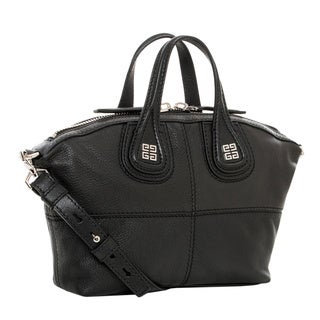 Givenchy Micro Nightingale Black Leather Satchel