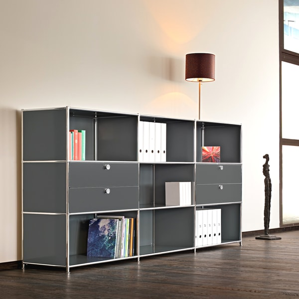 system4 prestigious elite steel side board tv media stand office filing credenza overstock. Black Bedroom Furniture Sets. Home Design Ideas