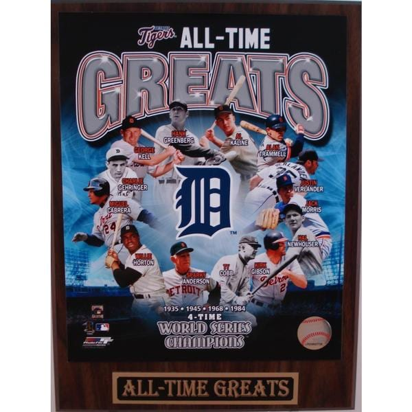 Detroit Tigers All Time Greats Plaque