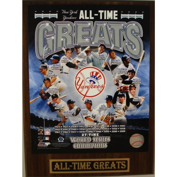 New York Yankees All Time Greats Plaque