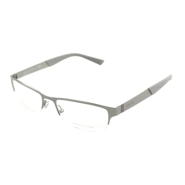 Gucci Mens GG 2230 R80 Semi-rimless Eyeglasses ...
