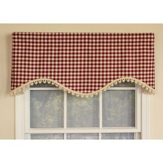 Mulberry Check Cornice Window Valance