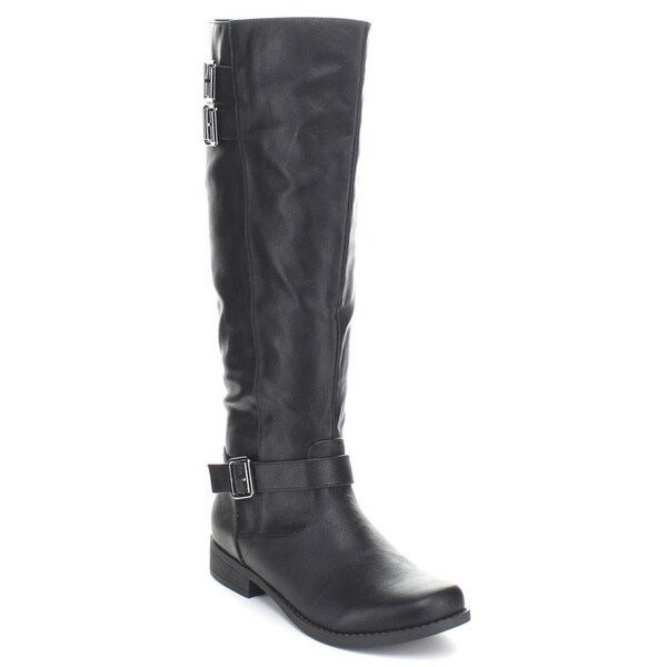 Fashion Focus Women's 'Bella-3' Double Front Knee-high Riding Boots